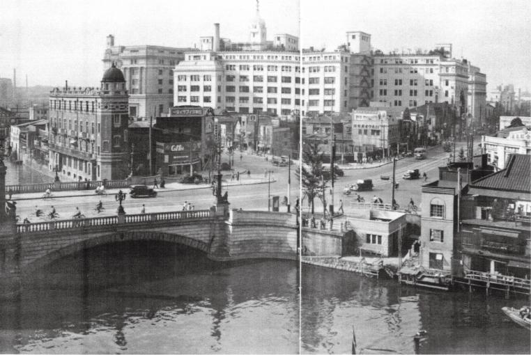 三越本店と日本橋(昭和初期)