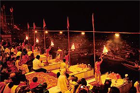 ガンジス河の火葬