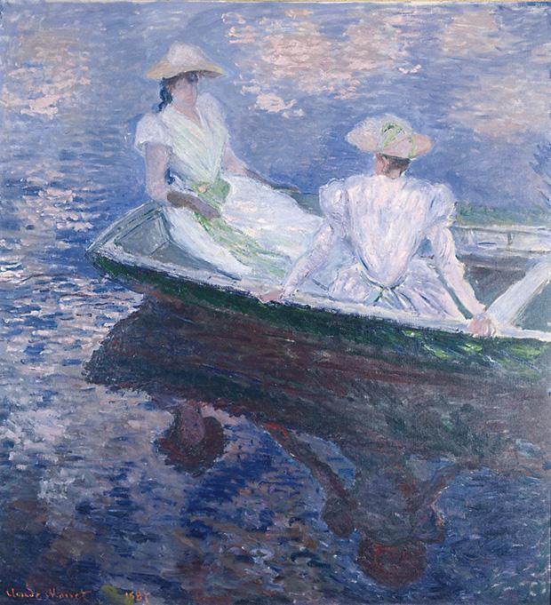 クロード・モネ《舟遊び》 1887 年 国立西洋美術館 松方コレクション
